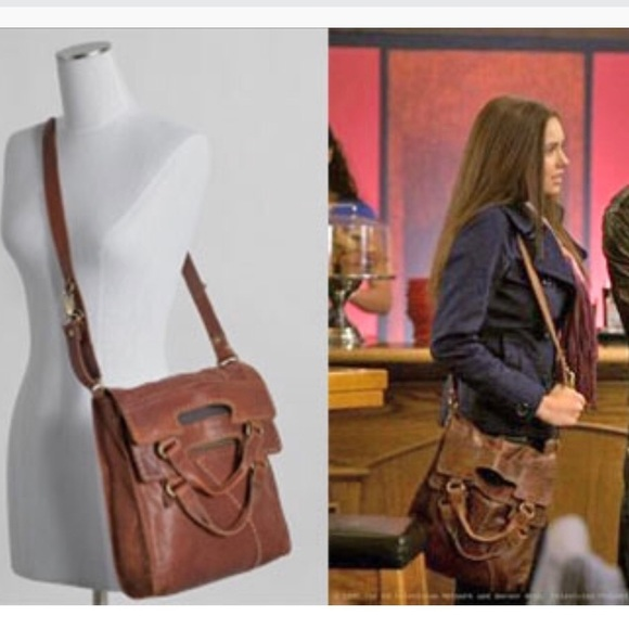 Details about  /Lucky Brand Abbey Road Brown Italian Lamb Leather Hobo Crossbody Satchel Purse